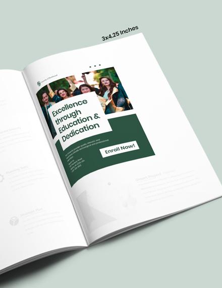 Simple University Magazine Ads