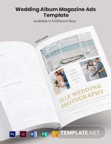 Free Wedding Album Magazine Ads Template
