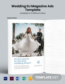 Free Wedding Bridal Magazine Ads Template