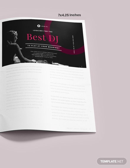 Simple Wedding DJ Magazine Ads
