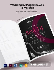 Free Wedding DJ Magazine Ads Template