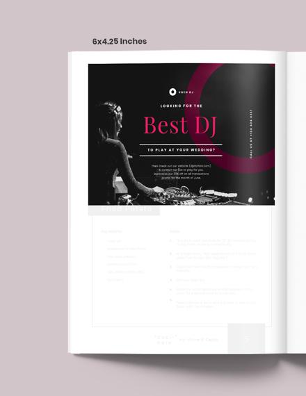 Wedding DJ Magazine Ads Template