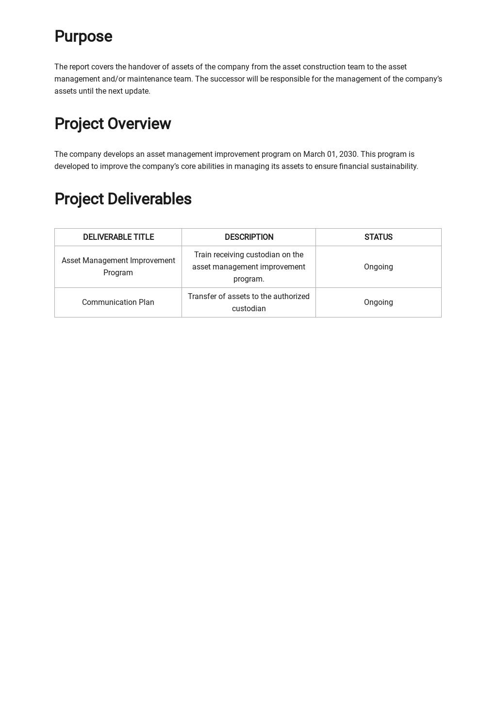 Free Asset Handover Report Template 1.jpe