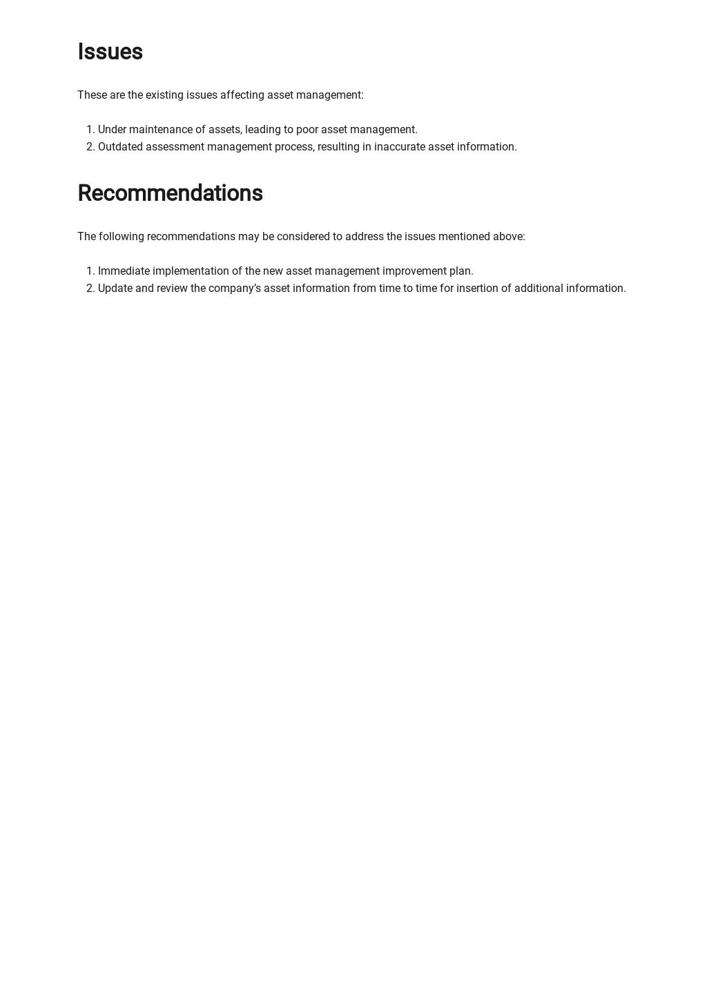 Free Asset Handover Report Template 3.jpe