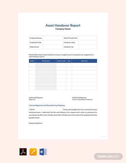 FREE Asset Handover Report Template: Download 538+ Reports in Word