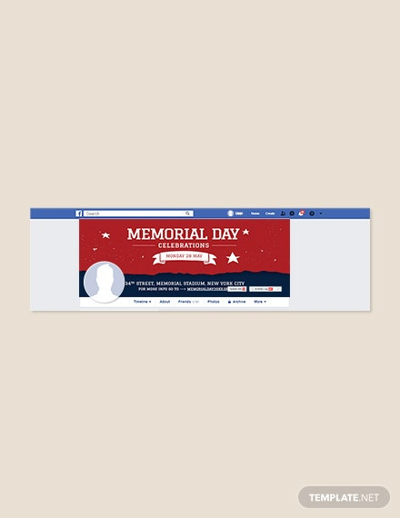 Free Memorial Day Facebook Cover Template