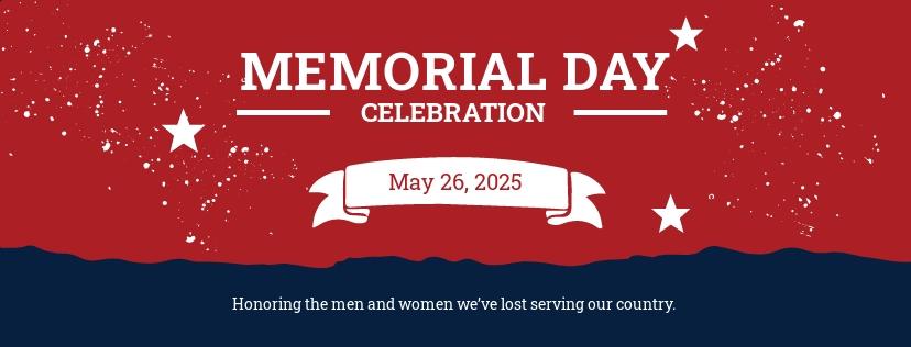 Free Memorial Day Facebook Cover Template
