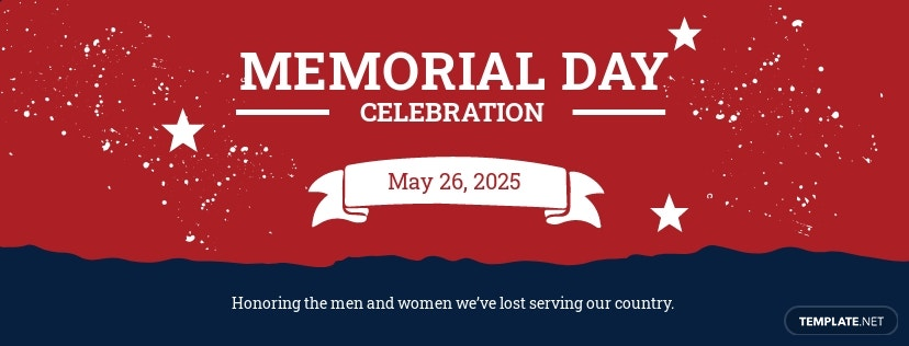 Memorial Day Facebook Cover Template