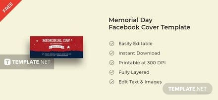 Memorial Day Facebook Cover Template