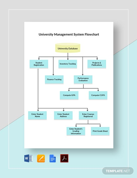 University Management System Flowchart Template
