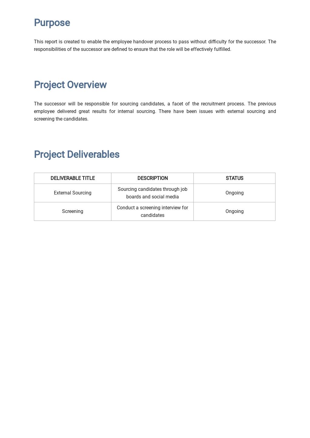 Free Employee Handover Report Template 1.jpe
