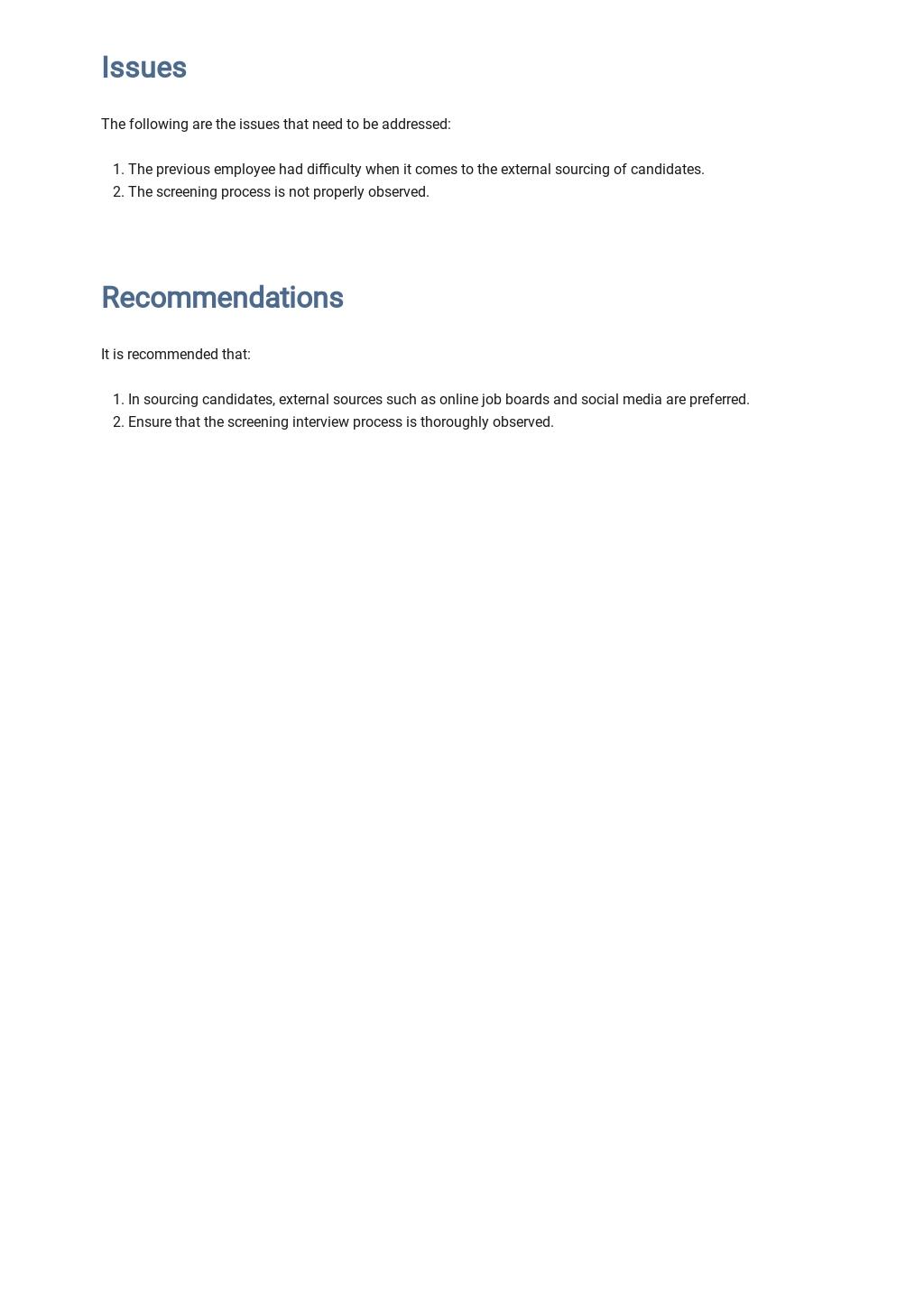 Free Employee Handover Report Template 3.jpe