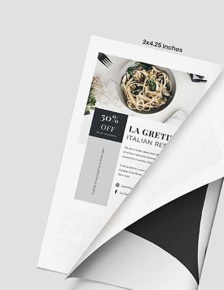Restaurant Magazine Ads Format