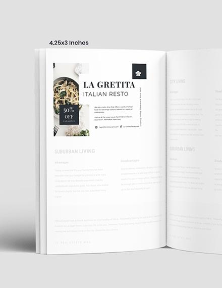 Sample Restaurant Magazine Ads