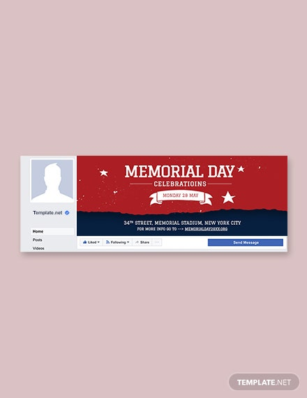 Free Memorial Day Facebook Event Cover Template