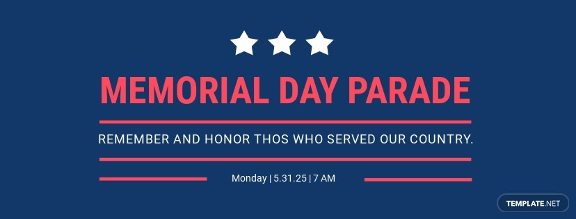 Memorial Day Facebook Event Cover Template