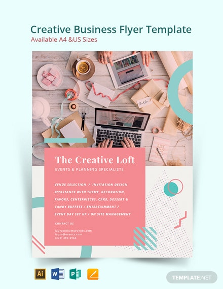 Free Creative Event Planner Business Flyer Template
