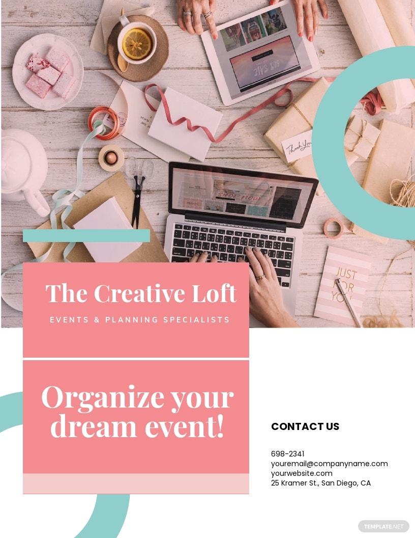 Free Creative Event Planner Business Flyer Template.jpe