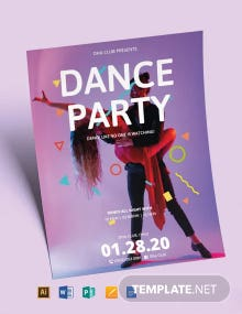 Club Dance Party Flyer Template