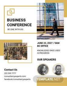Free Business Event Conference Flyer Template
