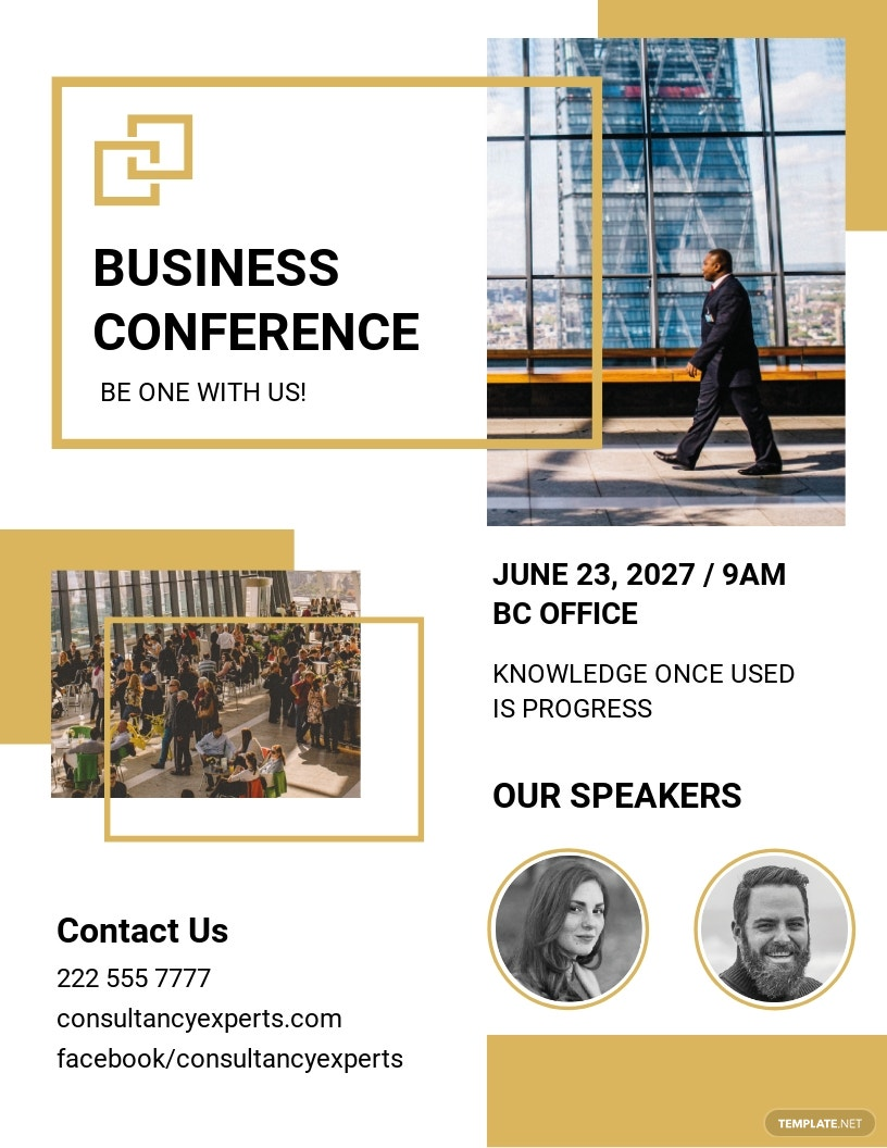 Business Event Conference Flyer Template