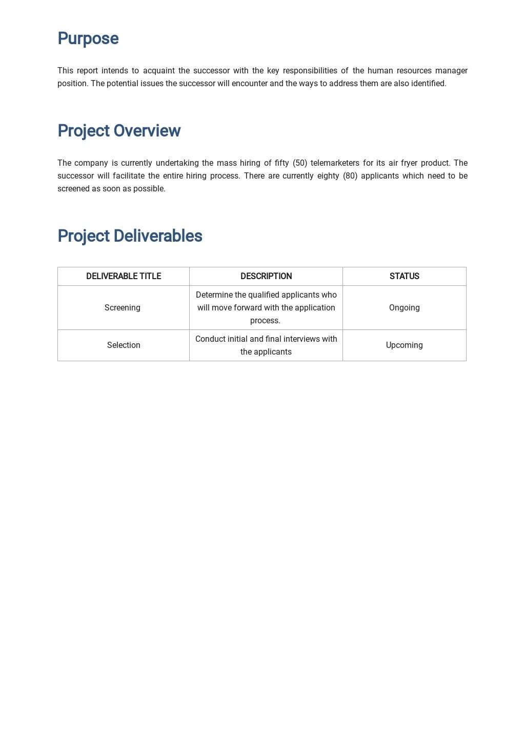 Free Job Handover Report Template 1.jpe