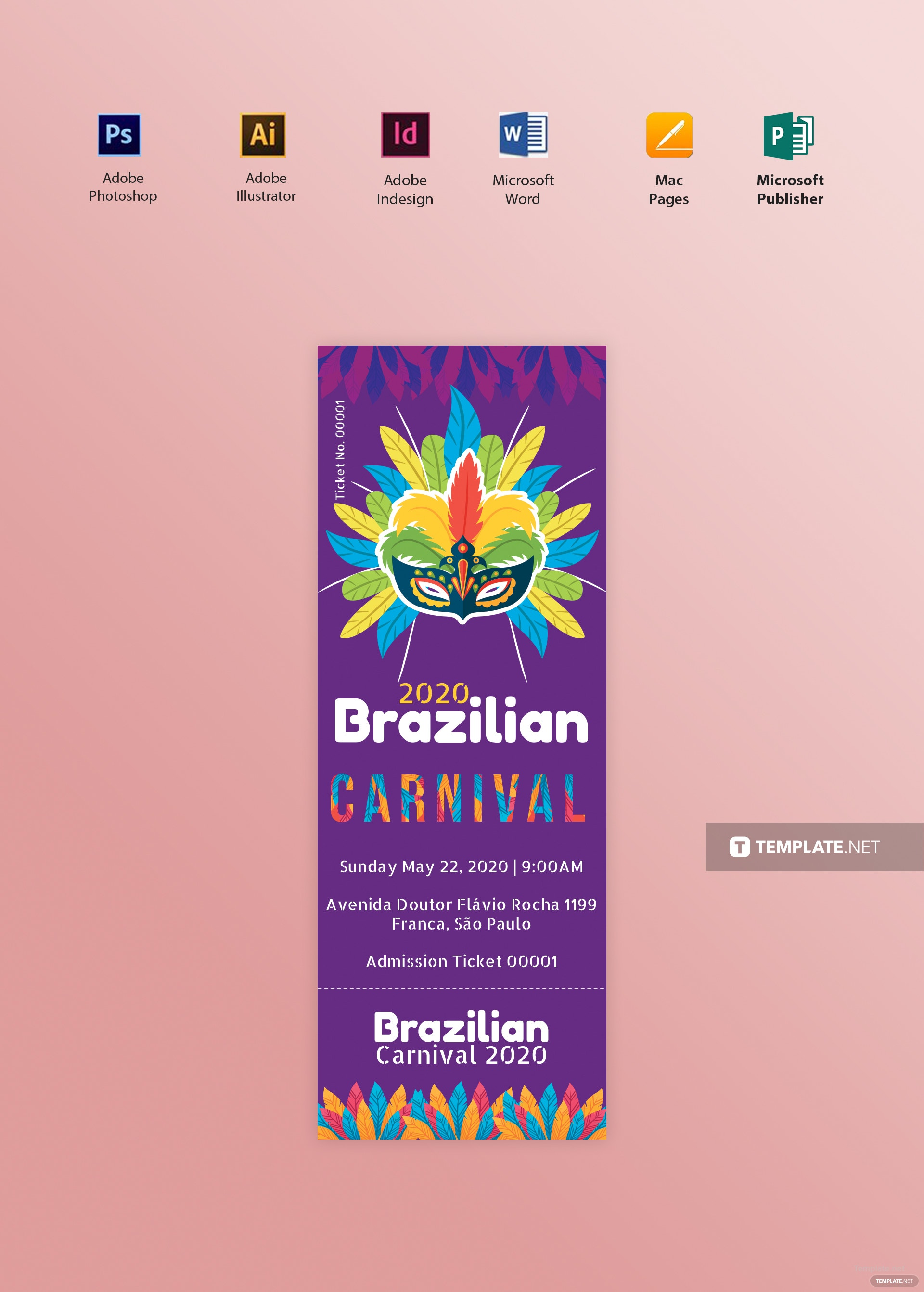 Free Carnival Admission Ticket Template in Adobe Photoshop ...