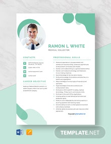 Free Medical Collector Resume Template
