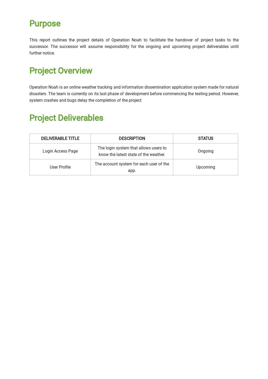 Free Project Handover Report Template 1.jpe
