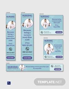 Free Nursing Banner Ads Template
