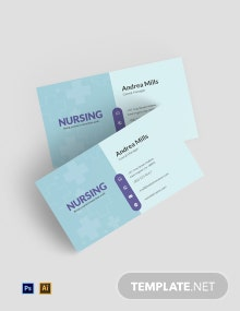 Free Nursing Business Card Template