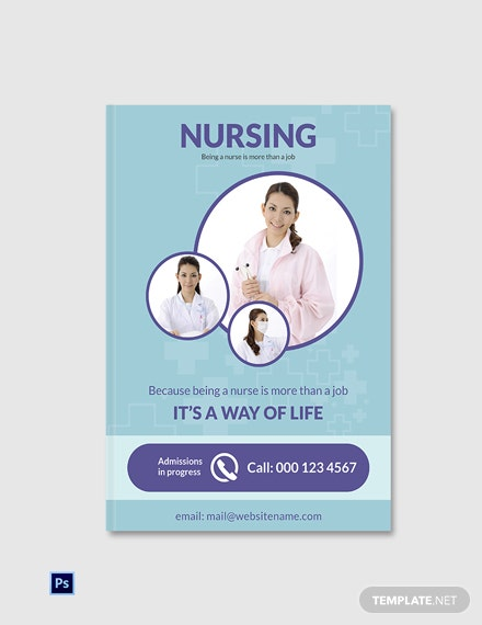 Free Nursing eBook Cover Page Template