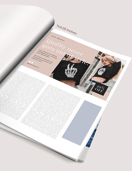 Sample Fashion Magazine Ads Example