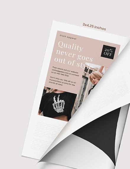 Sample Fashion Magazine Ads Format