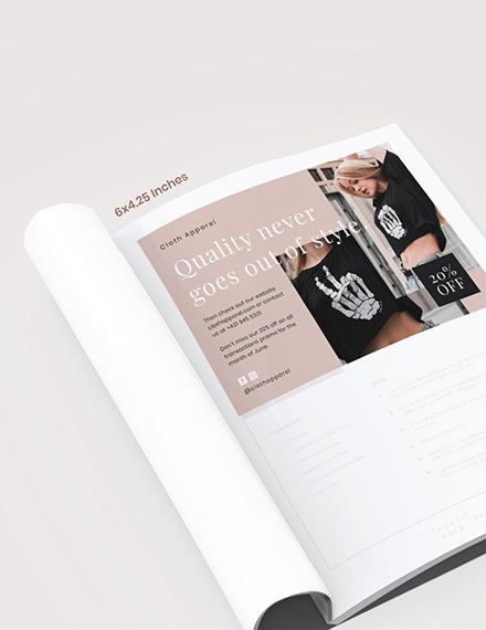 Sample Fashion Magazine Ads Template