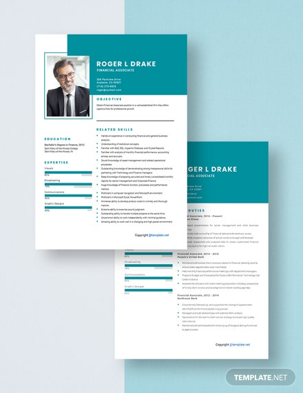 Financial Associate Resume Download