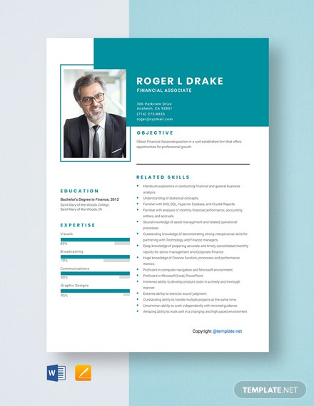 Financial Associate Resume