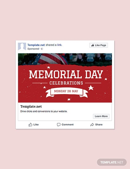Free Memorial Day Facebook Post Template