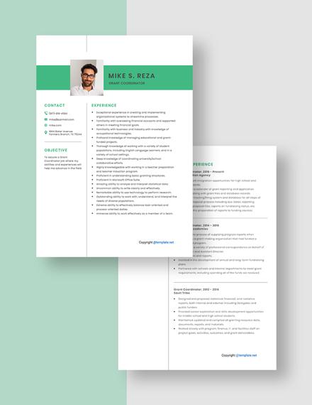 Grant Coordinator Resume Download