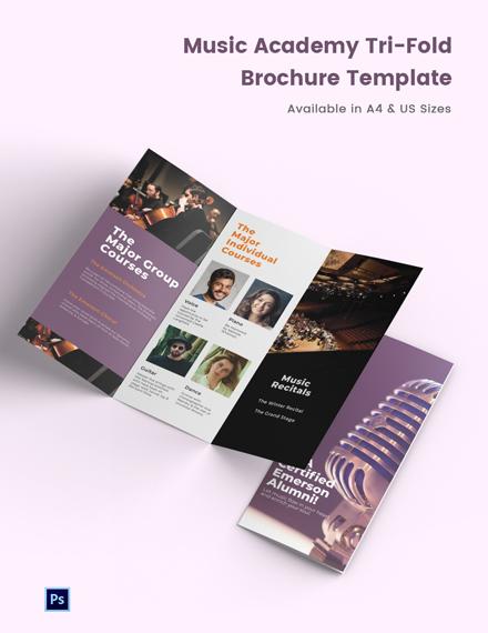 Music Academy Tri-Fold Brochure Template