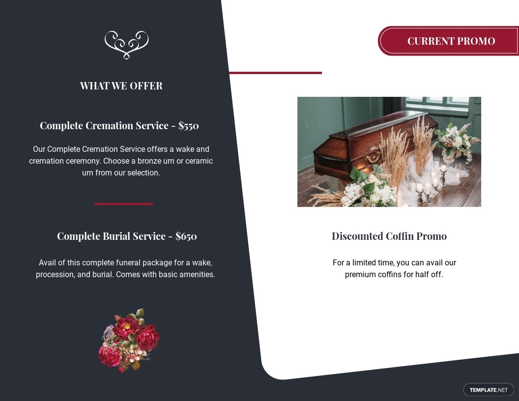 Modern Funeral Memorial Bi Fold Brochure Template 1.jpe