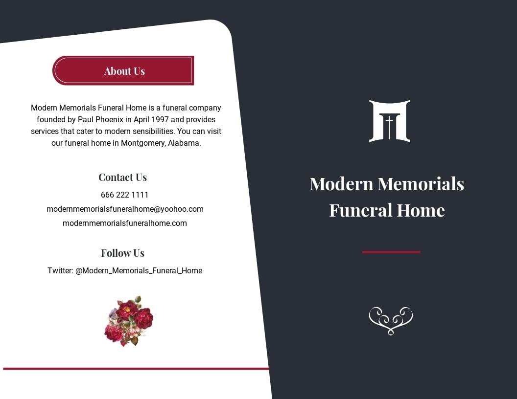 Modern Funeral Memorial Bi Fold Brochure Template.jpe