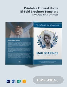 Free Printable Funeral Home Bi-Fold Brochure Template