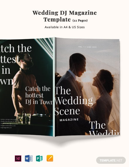 Wedding DJ Magazine Template