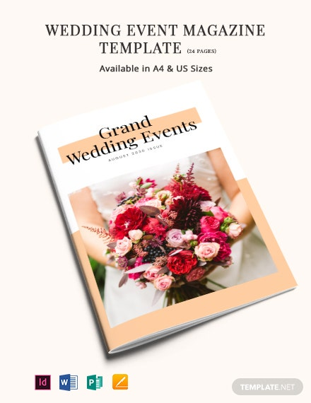 Wedding Event Magazine Template