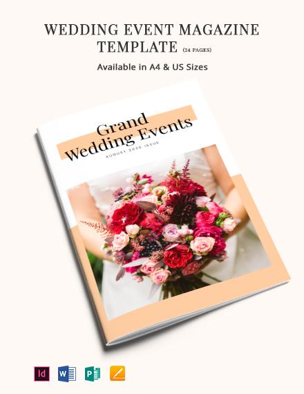 Wedding Event Magazine Template