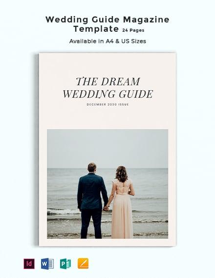 Wedding Guide Magazine Template
