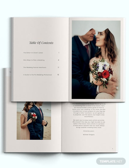 Wedding Guide Magazine Template