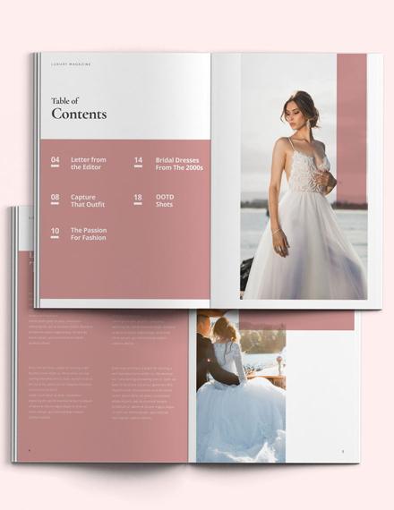 Wedding Layout Magazine Template
