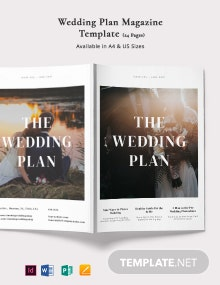 Wedding Plan Magazine Template